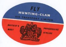 Collectible Airline luggage label Hunting Clan UK Rare  #079
